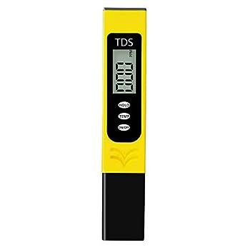 Iusun Digital Water Quality PPM Tester Water Testing Kits for Fast 3 in 1 TDS Meter EC Meter & Temperature Meter Accurate Water Test Meter for Swimming Pool Aquariums Drinking Water  Yellow