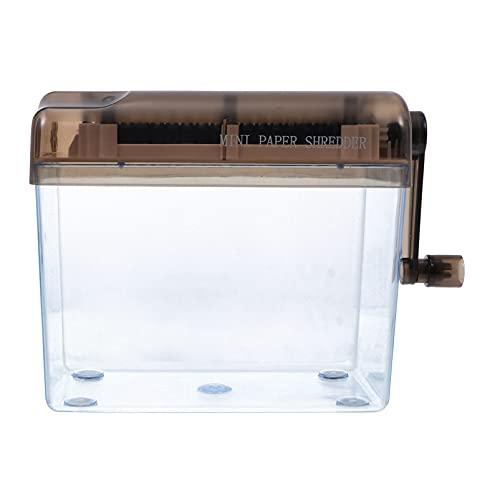 Tomaibaby Mini Trituradora de Papel A4 Máquina de Corte Manual Tira de Corte de Documentos Máquina Herramienta Negra