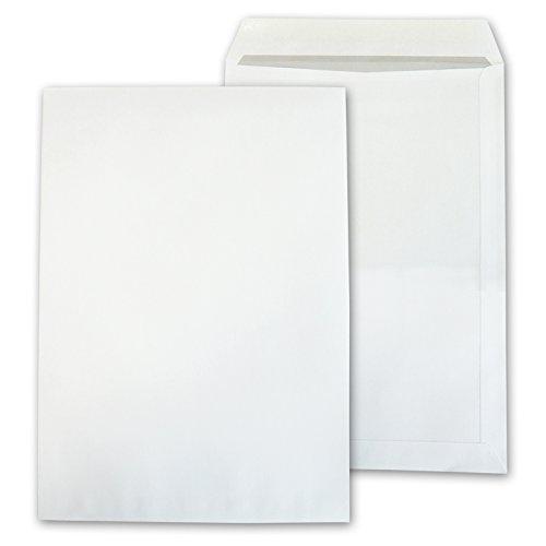 versando - 250 Sobres Grandes DIN B4 (250x353 mm) Adhesivos Color Blanco