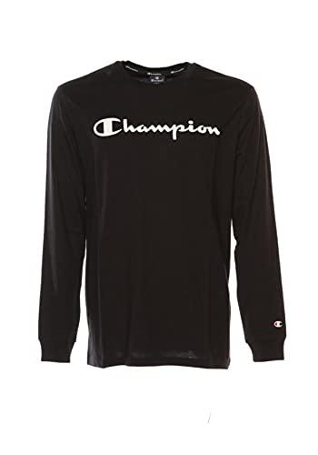 Champion American Classics Long Sleeve Camiseta, Azul Marino, XL para Hombre