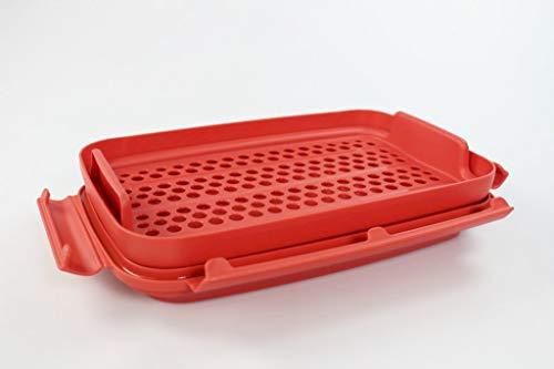 Tupperware Flip & Shake Rojo para empanar