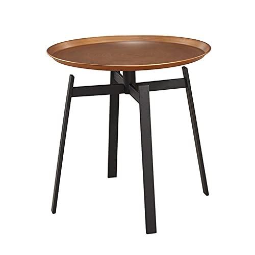 IINSSDJ Tavolino Rotondo da Soggiorno, Tavolini Laterali per Divani Moderni, per Camera da Letto, Sala da Pranzo, Ufficio, Salotto, Mobili da Interno, Bronzo
