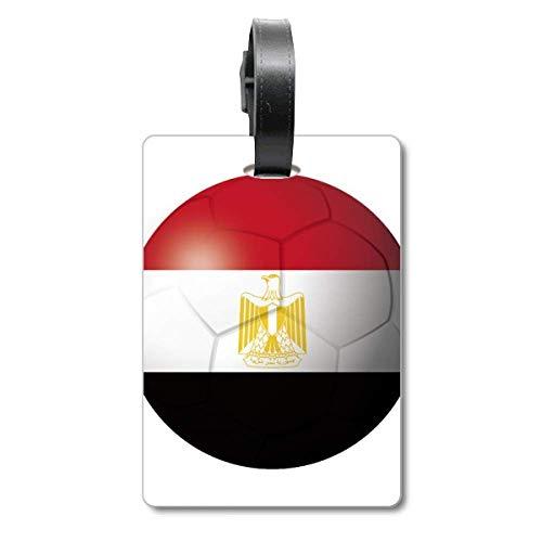 Ägypten-Nationalflagge Fußball Cruise Koffer Tag Tourister Identifikationsetikett