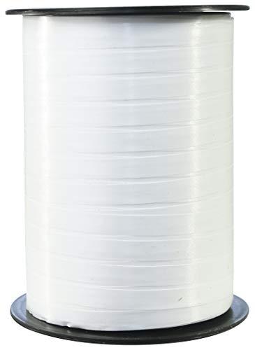 Clairefontaine 601701C Spule Geschenkband glatt (500 m x 7 mm, ideal für Bastelprojekte und Geschenke) 1 Stück weiß
