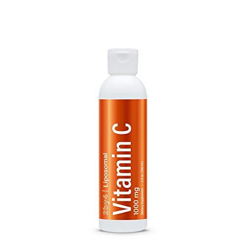 Liposomal Liquid Vitamin C Non-GMO - Ascorbic Acid Antioxidants Supplement, Immunity Booster with Sunflower Lecithin for Collagen Support, Skin Health, Brain Function, Anti Aging, Vegan, 1000mg