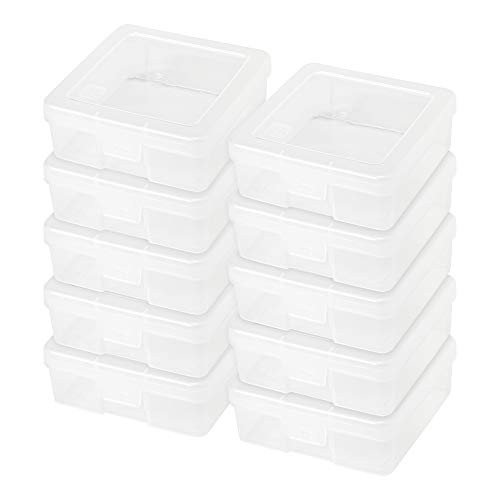 IRIS USA Small Modular Supply Case, 10 Pack, Clear 585170