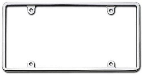 Cruiser Accessories 21330 Slim Rim License Plate Frame, Chrome,1 Frame