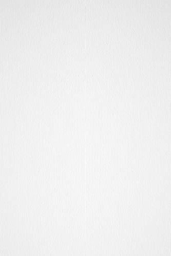 100 x Natur-Weiß Bastel-Papier mit Linienstruktur DIN A4 210x297 mm 100g Acquerello Bianco weißes Bastel-Papier geprägt Papier Textur-Struktur Weiß Prägepapier Weiß A4