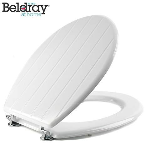 Beldray, Blanco Asiento de Inodoro machihembrado LA033758, Madera, 18 Pulgadas