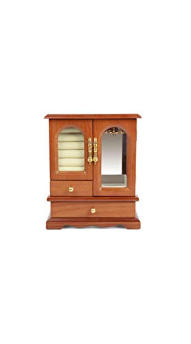 TYZP Caja de joyería de Madera, Vintage, para Collar, Anillo, aretes, joyero, Caja de Color sólido, Caja de Almacenamiento Creativa
