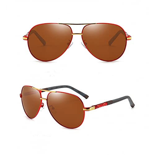 YTYASO Gafas de Sol polarizadas de Aluminio para Hombre, Lentes de Revestimiento para Hombre, Gafas de Sol para Conducir, Gafas de Sol para Hombre UV400