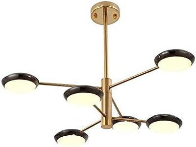 Amazon.com: Lámpara de araña de 6 luces con acabados ...