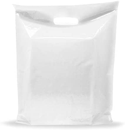Extra Large White Merchandise Bags Glossy Plastic Perfect for Retail 100 Pack 20 x 22 x 2 mil product image