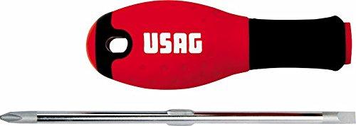 USAG 322 R Umsteck Schraubendreher für Schlitzschrauben (Kreuzschlitzschrauben, 1x6x75 mm) U03220097
