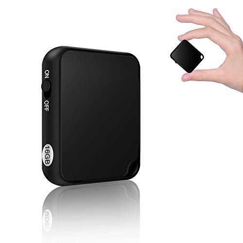 Mini Enregistreur Vocal  16 Go Enregistreur Audio Vocal Numérique   Fonction d'Activation Vocale  Rechargeable par USB   MP3 Player Portable Dictaphone pour Les Cours, Les réunions et Les entretiens