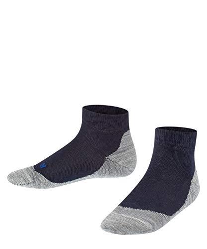 FALKE Kinder Sneakersocken Active Sunny Days - Baumwollmischung, 1 Paar, Blau (Dark Marine 6170), Größe: 27-30