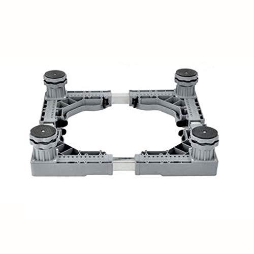Base móvil multifuncional Base móvil - Lavado ajustable bases de maquinarias de soporte Frigorífico Tren de rodaje de soporte del soporte Pp Electrodomésticos Lavado base de la máquina convenientes Pa