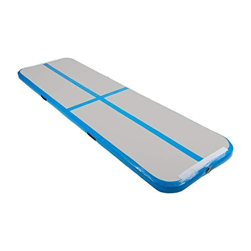 Z ZELUS Air Matte Track 300x100x10cm aufblasbare Gymnastik Tumbling Matte Gymnastikmatte Turnmatte Bodenmatte für zuhause Outdoor Yoga (Blau)