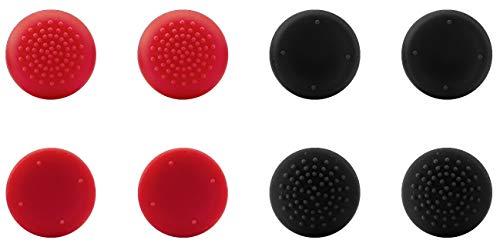 Speedlink STIX Controller Cap Set - Analogstick Aufsätze für Dualshock Controller Playstation 4 - Gaming/Konsole/PS4 - schwarz-rot
