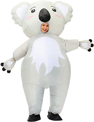 TBBE Disfraz inflable para adultos Koala Maquillaje Halloween Navidad Cosplay Disfraz Adulto Inflable Disfraz Koala-Gray_L