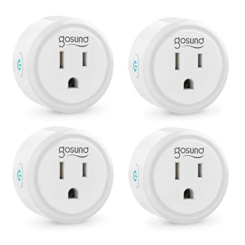 Smart Plug Works with Alexa and Google Home, Gosund WiFi Outlet Mini Socket Remote Control with...