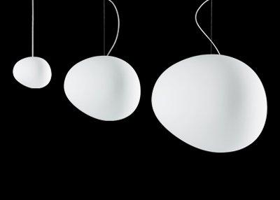 Foscarini Ludovica + Roberto Palomba, 2007 Lampada, mundgeblasenes Glas und lackiertes Metall, weiß, Einheitsgröße