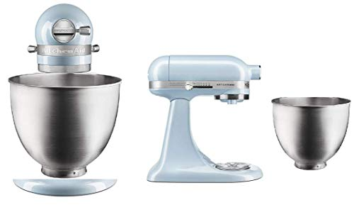 KitchenAid RKSM33XXSH Artisan Mini 3.5 Quart Tilt-Head Stand Mixer, Qt, Sea Shimmer (Renewed)