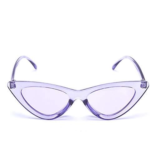 UKKD Gafas De Sol Mujer Gafas De Sol Pequeñas Transparentes Negras