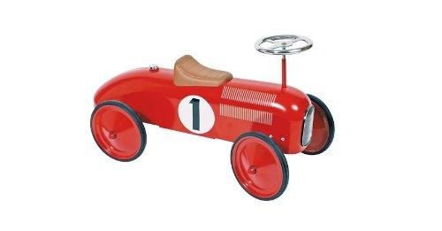 Goki 14135 - Rutscherfahrzeug, rot