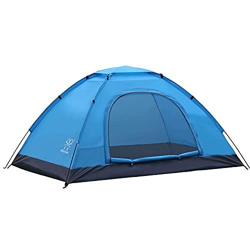 Carpa emergente portátil, Carpa Domo Impermeable Refugio automático rápido para el Sol para Acampar al Aire Libre Senderismo,Azul