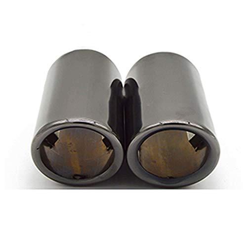 VNASKH 2 uds Cubierta de Tubo de silenciador de Punta de Escape de Coche, para Audi A4 B8 A3 A1 Q5, Accesorios de Coche para VW Tiguan Volkswagen Passat B7 CC