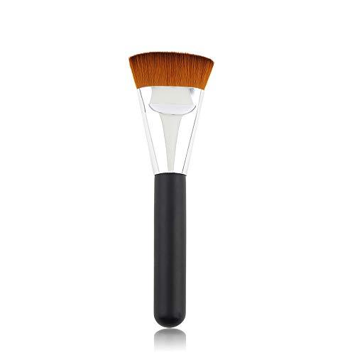 Foundation Brush163 Pinceau plat Contour pour le visage pour liquide, poudre et poudre, pour le polissage, le mélange et le visage.