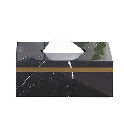 Caja para Pañuelos de Papel Caja de pañol de mármol Caja de cena Caja de pañuelos Caja de cena Sala de estar Caja de pañuelos Caja de tejido minimalista moderno Caja de almacenamiento Caja de Portapañ