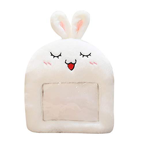 minjiSF Cojín cálido para las manos unisex de algodón, peluche, con diseño de dibujos animados, con bolsa de agua caliente vacía, regalo de invierno, interior de 40 x 30 cm Color a talla única