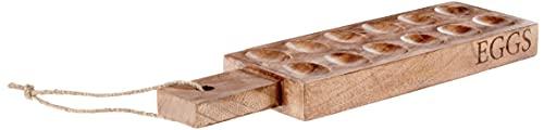 "Mud Pie Wood Deviled Egg Tray, 8 ¼"" x 14"", Brown"