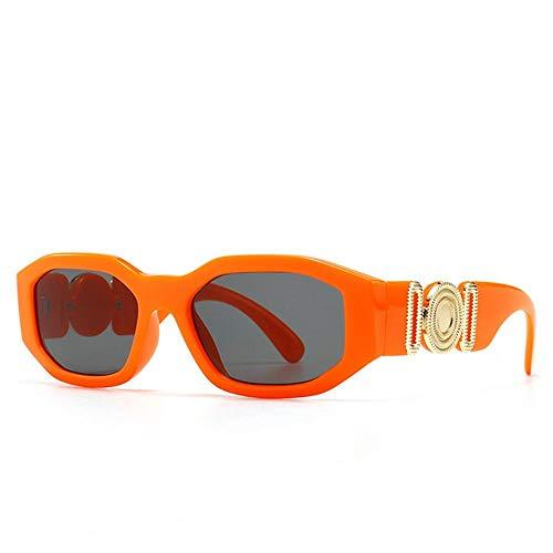 Vintage Gafas De Sol De Marco Pequeño Fashion Square Sun Glasses Shades Uv400 Gafas Vintage Adecuadas para Compras De Viajes Al Aire Libre Y Tomar El Sol, Etc, Naranja