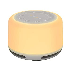 White Noise Machine, ABEDOE Sleep Sound Machine with 24 Nature Soothing Sounds Night Light Dimming & Timer, Built-in Rechargeable Battery, Portable Sound Machine for Baby & Adults, Home, Office