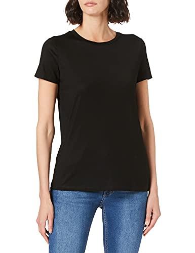 United Colors of Benetton (Z6ERJ T-Shirt Camiseta, Negro, M para Mujer