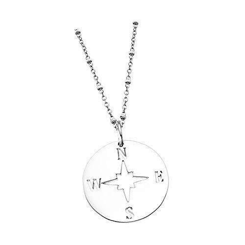 Lotus Collar de plata 925 LP1956-1/1, brújula, joya auténtica D3JLP1956-1-1, joya para el cuello para la mujer
