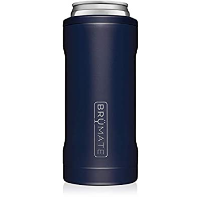 Br?Mate Hopsulator Slim Double-walled Stainless Steel Insulated Can Cooler for 12 Oz Slim Cans (Matte Navy)