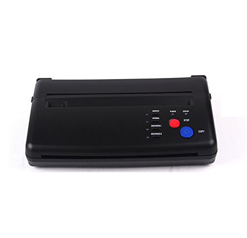 Zinnor Tattoo Transfer Copier New Portable Tattoo Printer Machine Thermal Stencil with Little Noisy Sound Black(Upgraded Version)