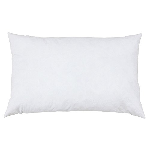 Riva Paoletti Hollowfibre Cushion Pad Insert Inner- Rectangular Shape - 100% Polyester Filling - Double Stitched Edges - 40 x 50cm (16' x 20' inches) - Designed in the UK