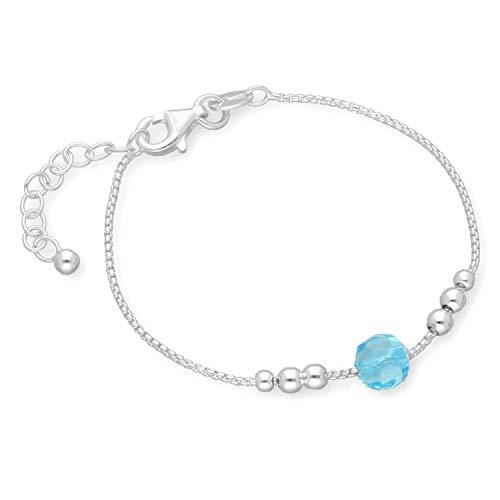 butterfly Chica Pulsera Cristal Azul Longitud-ajustable Satén de los Bolsos Regalo Para el Nacimiento