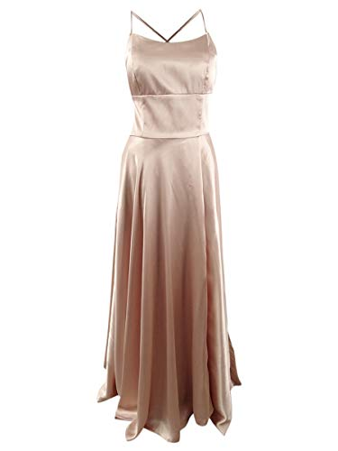 Betsy & Adam Womens Satin Strappy Evening Dress Pink 12