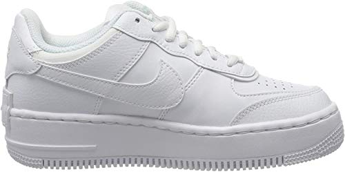 Nike W AF1 Shadow, Scarpe da Basket Donna, White/White-White, 36 EU