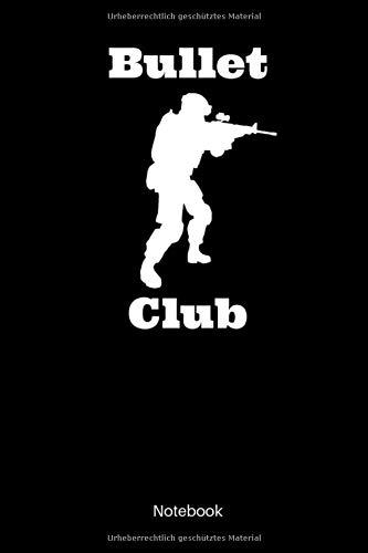 Bullet Club Notebook: Kariertes Militär Notizbuch für alle Soldatinnen und Soldaten