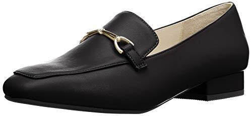 [オリエンタルトラフィック] ローファー レディース スクエアトゥ 美脚 フラット 大きいサイズ 小さいサイズ 歩きやすい 11110 BLACK 23.5 cm E