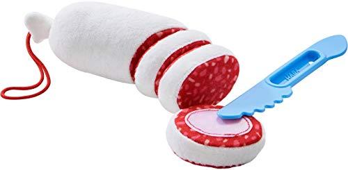 HABA 304229 - Salami, Zubehör für Kaufladen und Kinderküche, Salamischeiben aus Stoff mit Messer zum Abschneiden, Spielzeug ab 3 Jahren