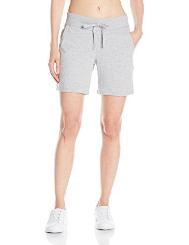 Hanes Women's Jersey Short, Light Steel, Large