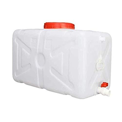 DYFYMX Depósito de agua Recipiente de agua con el coche de almacenamiento de agua de la llave del tanque cuadrado, for el camping, picnics, la conducción, la pesca en otro lugar (tamaño: 30 l) dispens